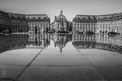 Reflejos de Burdeos (Ivan_Sanchez) Tags: reflection canon reflejos bancoynegro