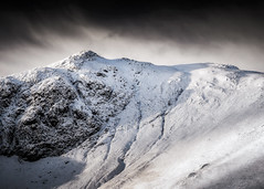 Catbells II (Vemsteroo) Tags: winter cloud snow cold nature monochrome beautiful rock canon landscape frozen frost lakedistrict hills textures cumbria fells 5d catbells slopes 70200mm mkiii circularpolariser visitbritain visitcumbria deewentwater