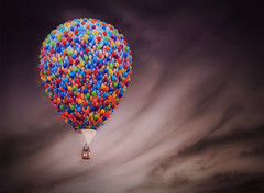 Dream Weaver (krheesy) Tags: up happy wind balloon dream surreal disney fantasy colourful float drift hss