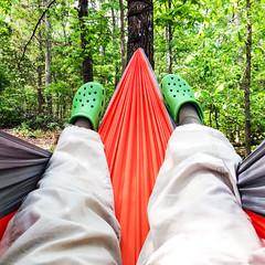 Hammock Selfie (Jim Dollar) Tags: hammocks jimdollar iphonephoto