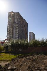 Sighthill flats under demolition (4) (dddoc1965) Tags: road blue red scotland high skies glasgow 21st sunny demolition flats reid april rise kenny sighthill 2016 dddoc davidcameronpaisleyphotographer