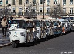 Aspects of Lisbon 011 (Row 17) Tags: street city travel urban streets tourism portugal lisbon transport streetlife streetscene taxis
