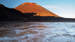 Fire and Ice (blue polaris) Tags: park new lake ice sunrise landscape island volcano frozen mt crossing plateau south north mount zealand alpine national crater tongariro volcanic ngauruhoe