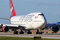 Virgin Atlantic | 747-400 | G-VXLG | MCO (Justin Pistone) Tags: orlando airport florida atlantic virgin international boeing 747 mco 747400 gvxlg kmco