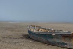 Impressionist palette in Delta de l'Ebre (agustiam) Tags: sea beach colors landscape 50mm barca colours foggy delta ebro tarragona platja ebre impresionism boira paintng deltadelebre impresionismo trabucador