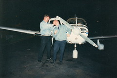 FLYING NVFR Piper Warrior Canberra Airport (Stuart Curry) Tags: night training flying pilot nvfr