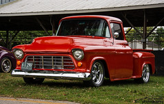 1956 Chevy pick up (scott597) Tags: ohio red hot up truck pumpkin run chevy rod 1956 pick nationals 2015 owensville