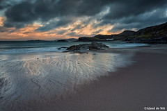 Home Alone (aland67) Tags: longexposure blue sunset sea mountain seascape beach rain clouds landscape bay scotland sand rocks tide runningwater goldenhour refelections clashnessie leend09hard alanddewit