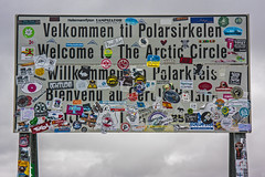 Arctic Circle (Matthew on the road) Tags: road trip travel summer travelling nature sign norway way circle norge long north july august arctic motorbike moto motorcycle cape welcome raid capo norvegia nord arcticcircle circolo polare artico northcape stikers nordkapp stiker longway 2015 circolopolareartico caponord summer2015 july2015 august2015 matthewnan matthewontheroad