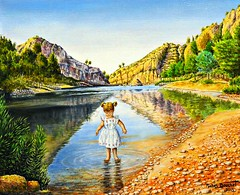 1 - 49me Salon des Arts dAlfortville Michel Bouchet, Les pieds dans l'eau, Huile (melina1965) Tags: painting nikon ledefrance january peinture janvier valdemarne 2016 alfortville d80