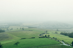 Foggy day, Goodwood (lubowiczorest) Tags: road uk green nature fog landscape nikon foggy hills 50 goodwood 5mm