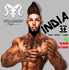 India - Face Tattoo (Layer) (Lito Titanium) Tags: india male face tattoo avatar avi layer normal titanium unisex hombre tatto homme indu tmw standar