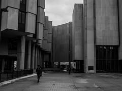 Brutalism (me_chris) Tags: street city urban blackandwhite bw building college modern concrete university library cement olympus soviet bleak blocks block northwestern evanston fortress brutalism brutalist drab omd m43 em5