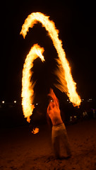 (Attila Pasek) Tags: show night fire free stick attraction longexposuretime boscombepier firejam