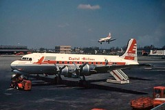 Chicago Midway Airport - Capital Airlines - DC-4 (twa1049g) Tags: chicago airport capital 1954 midway douglas airlines dc4 n88746