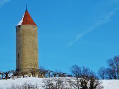 La Tour  Boyer, Romont FR CH (Grandgi) Tags: tower tourism schweiz switzerland tour suisse hiver medieval age neige fribourg freiburg turm visite tourisme boyer romont moyen touraboyer
