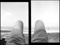 knee high (Bo N) Tags: bw water photoshop thailand d76 halfframe 100asa 2015 fujicahalf kentmere100