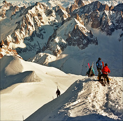 Before descending 2 (Katarina 2353) Tags: winter people mountain snow alps film landscape nikon chamonix alpinista katarinastefanovic katarina2353