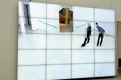 """wavering forms"" (claude05) Tags: frankfurt mmk museumfrmodernekunst williamforsythe cityofabstracts interactivevideowall yewaveringformsdrawnearagainasever"