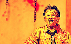 The Texas Chainsaw Massacre (RK*Pictures) Tags: red classic face yellow movie toy actionfigure death 1974 saw pain blood mask massacre leatherface victim fear knife chainsaw meat tragedy psycho gore cult horror teenager bloody hook bizarre diorama brutal maniac cannibals meathook cruel mcfarlane horrorfilm mcfarlanetoys humanskin moviemaniacs gunnarhansen tobehooper thetexaschainsawmassacre slasherfilm familyofcannibals