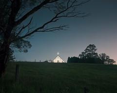 (roundtheplace) Tags: longexposure nightphotography church architecture night mediumformat landscape lowlight dusk australia 6x7 australianlandscape portra portra400 landscapephotography pentax67 australianbush