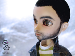 Mini Juanjo: flocking integral (Nepenthe (Sutura Workshop) - NEW ACCOUNT!) Tags: boy male hair beard eyes doll natural skin ooak flock shaved makeup lips chips full greeneyes short groove pullip custom commission abs juanjo eyebrows custo eyelids mueca realistic flocking nepenthe maquillaje encargo sutura faceup taeyang glasschips suturaworkshop miokit