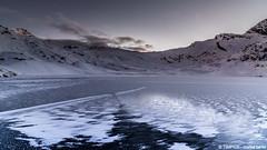 nuvolette (TIMPICE) Tags: mountain lake snow ice landscape lago nikon lac neve rosso montagna paesaggio ghiaccio d90 miserin