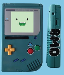 Adventure Time BMO themed Game Boy (Pullipprincess) Tags: game time character nintendo games adventure videogames handheld bmo custom gameboy cartoons adventuretime