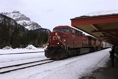 CP Rail Train at Banff Train Station