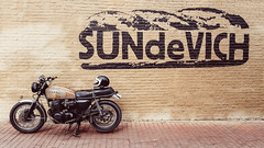 #Blessed (TheRobbStory) Tags: color wall digital honda washingtondc dc rust motorcycle dcist 1978 k8 cb750 16x9 sundevich ironandair robbhohmann vscocam
