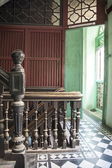 (AsianInsights) Tags: old city original blackandwhite house green wall architecture tile design wooden asia southeastasia handmade interior yangon burma colonial tiles staircase myanmar handrail innercity banister railing oldtown veryold hardwood 100yearsold rangoon wodden 2016 myanma february2016