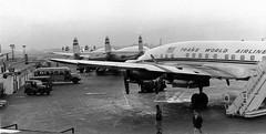Chicago Midway Airport - TWA - Constellations (twa1049g) Tags: chicago airport 1957 wa midway lockheed constellation
