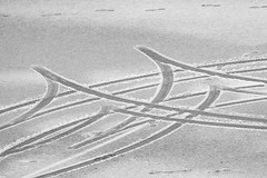 Traces in snow (harald.bohn) Tags: snow car traces bil spor sn wetsnow srpe
