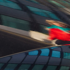 Just another lady in red (zeh.hah.es.) Tags: auto red woman reflection rot car facade schweiz switzerland zurich zrich frau spiegelung fassade kreis5 hardbrcke