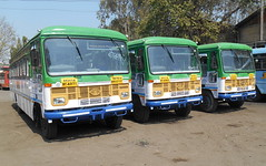 HERE IS BRAND NEW PUSHBACK SEMI LUXURY BUSES TODAY ALLOCATED TO KOLHAPUR DEPOT CLICKED TODAY AT KOLHAPUR DEPOT ALL ARE GETTING READY TO DO THEIR FIRST JOURNEY ON KOLHAPUR --- PUNE (gouravshinde94) Tags: bus buses tata pune kolhapur asaid hirkani msrtc