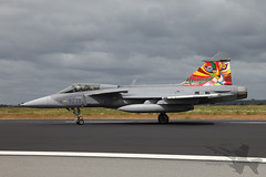 Saab JAS-39C Gripen 9238 (Newdawn images) Tags: plane airplane fighter aircraft aviation military jet aeroplane saab jetfighter ntm gripen militaryjet 9238 natotigermeet jas39c canoneos5dmarkii schleswigjagel