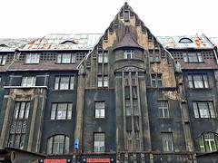 Facade on building on Brivibas Street in central Riga, Latvia. February 12, 2016 (Vadiroma) Tags: city facade europe capital baltic latvia riga 2016 rga latvija nationalromanticism