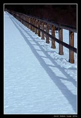 The fence (cienne45) Tags: winter snow fence cienne45 carlonatale ombre neve inverno natale staccionata campitellodifassa