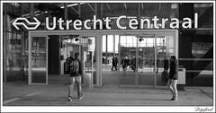 Centraal Station Utrecht (Digifred.) Tags: street city blackandwhite holland netherlands blackwhite utrecht nederland streetphotography canals railways grachten railstation straat 2016 digifred pentaxk3