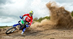 Sapper Tom Ellwood (Defence Images) Tags: uk england man male sport soldier army military rally free motorbike riding british motor re wiltshire defense defence movements enduro skid jnco personnel regiments dustcloud perhamdown nonidentifiable thecorpsofroyalengineers