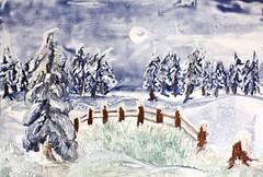 Snowy fields (Colordreams63) Tags: winter snow cold landscape iced encaustic kalt eis landschaften colordreams wachsmalerei smbcolordreams63