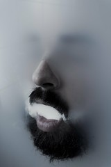 Breath (putz munter) Tags: portrait water face beard eyes smoke human blury