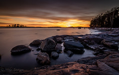 To the twilight zone (Mika Laitinen) Tags: ocean longexposure winter sea sky cloud sun seascape nature water suomi finland landscape seaside twilight helsinki wideangle calm balticsea shore fi scandinavia dreamscape vuosaari uusimaa kallvik tokina1116mm canon7dmarkii