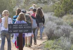 Students hiking in Joshua Tree (Joshua Tree National Park) Tags: nationalpark joshuatree trail joshuatreenationalpark
