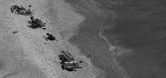 cala ambolo (cc .. jeckle) Tags: sea people sun mer white black beach monochrome canon soleil spain sand noir sable espagne plage blanc cala bronzer javea rivage nudiste ambolo 760d