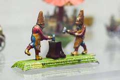 Antique wind-up German gnomes hammering anvil (quinet) Tags: germany munich toy deutschland antique windup allemagne spielzeug toymuseum jouet ancien antik zwerge spielzeugmuseum muséedujouet 2013