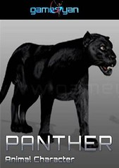 Panther Animal Quadruped Character - GameYan AnimationStudio (GameYanStudio) Tags: wild game animal movie studio four design 3d modeling character leg games company animation panther development services rigging sculpting texturing preproduction quadruped