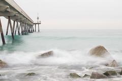pont petroli-1481 (nuri_bri) Tags: barcelona mar spain agua playa aigua brigde mediterrneo platja badalona mediterrani pontdelpetroli costabarcelona