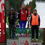 Red Mountain Fidelity BC Cup Slalom - Ladies' U18 Podium March 5 (left to right) Nakia Kamachi, Katie Fleckenstein, Frances MacDonald PHOTO CREDIT: Martin Tichy