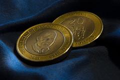 forty bucks mon (rosserx) Tags: 2 money coins cash jamaica currency marcusgarvey macromondays